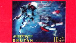 Nuovo - MNH - BHUTAN - 1967 - Esplorazione Dello Spazio - Luna - Space Walk - 10 - Tridimensionale -  3 D - Bhutan