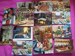 Lot De  14 Cartes Postales Recette - Cuisine  ( 1) - Ricette Di Cucina