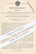 Original Patent - Carl Hoffmann , Aue , 1890 , Antrieb Der Vorschubwalzen Beim Gatter | Sägegatter , Säge , Sägen , Holz - Historische Dokumente