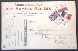 Carte De Franchise Militaire Cachet PREFECTURE MARITIME BREST Juin 1940 Vers Villedieu Les Poêles - Guerra De 1939-45