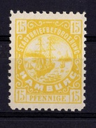 ALLEMAGNE POSTE LOCALE 15 PFG HAMBOURG NEUF ** THEME BATEAUX