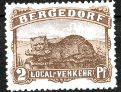 ALLEMAGNE POSTE LOCALE 2 PFG BERGEDORFF NEUF ** THEME FAUNE CHAT