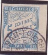 TAXE Colonies Générales 5c Bleu Banderole Cachet YUNNAN-FOU CHINE Bord De Feuille TB