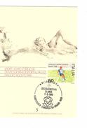 Italia-Italie-Italy Maximum Card-Carte Maximum Football Championship-Championnat Europa Milano 1980  PR4736 - Championnat D'Europe (UEFA)