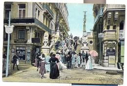BLANKENBERGE 1910   BLANKENBERGHE L' ESCALIER DES LIONS   SUPER !!!