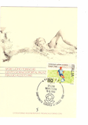 Italia-Italie-Italy Maximum Card-Carte Maximum Football Championship-Championnat Europa Napoli 1980  PR4738 - Championnat D'Europe (UEFA)