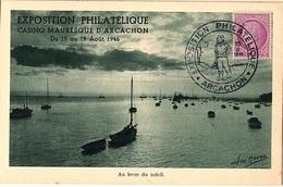 FR-L145 - FRANCE Carte Exposition Philatélique Arcachon 1946 - France