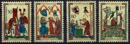Liechtenstein 1970 - MiNr 527-530 - Minnesänger - Liechtenstein