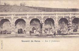 Souvenir De Herve - Les 6 Fontaines (animée, Précurseur, Vanderauwera & Cie) - Herve