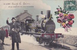 Cpa -92-bourg La Reine-je Quitte.... Et Emporte...-train- - Bourg La Reine