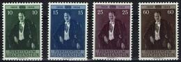 Liechtenstein 1956 - MiNr 348-351 - Fürst Franz Josef II - Liechtenstein