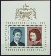 Liechtenstein 1956 - MiNr Block 7 (478-479) -  Erbprinz Hans-Adam Und Gräfin Marie Aglaë Kinsky - Liechtenstein