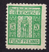 ALLEMAGNE POSTE LOCALE 5 PFG BREME  NEUF *(VLH)