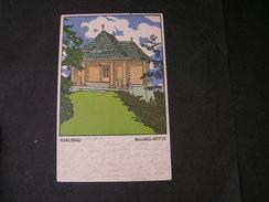 Karlsbad WWW Wiener Werkstätte Karte 216 Gelaufen 1925 - Künstlerkarten