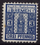 ALLEMAGNE POSTE LOCALE 3 PFG BREME  NEUF *(VLH)