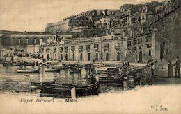 UPPER BARRACCA MALTA    MALTE , Old Postcard - Malta