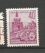 N° 192 Dresde : Reconstruction - Plan Quinquennal   Timbre Allemagne De L-Est (1955) Neuf