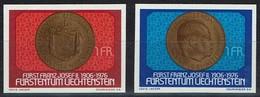 Liechtenstein 1976 - MiNr 649-650 - Münze- Mit Porträt Des Landesfürsten,- Mit Landeswappen - Münzen