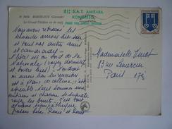 """GRIFFE LINEAIRE """" 21: S.A.T. AMIKARA KONGRESO PASKO 1966 CENONO / BORDOZO - CP BORDEAUX (GIRONDE ) GRAND THEATRE (CENON) - Esperanto"""