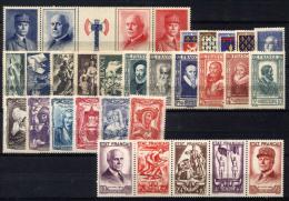 Francia 1943 Annata Completa / Complete Year Set **/MNH VF/F - Unused Stamps