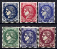 Francia 1938 Unif. 372/76 **/MNH VF/F
