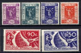 Francia 1936 Unif  322/27 **/MNH VF/F