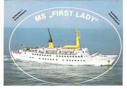 "Germany - Reederei Eils + Co - Cuxhaven Flensburg - Schiff - Ship - Dampfer - MS "" First Lady "" - Sticker Aufkleber Card - Paquebote"