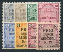 D. Reich Dienst. Nr. 1-8 * ~ Michel 7,-- Euro