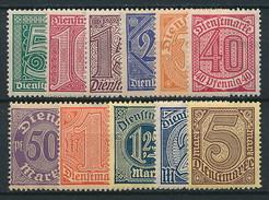 D. Reich Dienst. Nr. 23-33 * ~ Michel 8,-- Euro