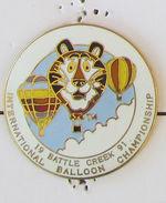 1 Pin's MONTGOLFIERE - INTERNATIONAL BALLON CHAMPIONSHIP BATTLE CREEK 1991 - Luchtballons