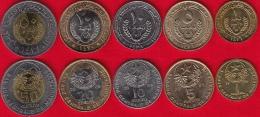 Mauritania Set Of 5 Coins: 1 - 50 Ouguiya 1995-2010 AU - Mauritania