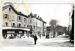 AIN 01 AMBERIEU EN BUGEY  HOTEL TERMINUS ET AVENUE DE LA GARE EDIT. CIM ECRITE CIRCULEE 1952 SIDE-CAR - France