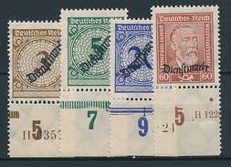 D. Reich Dienst. Nr. 99 / 112 ** Randstücke ~ Michel 17,50 Euro