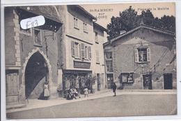 SAINT-RAMBERT-SUR-LOIRE-- CAFE MARTINET PLACE DE LA MAIRIE- CACHET FRANCHISE AU VERSO-DEPOT DES PRISONNIERS DE GUERRE - Other Municipalities
