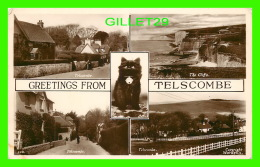 TELSCOMBE, UK - 5 MULTIVIEWS - BLACK CAT - PUB. BY A. W. W. BRIGHTON - - Angleterre
