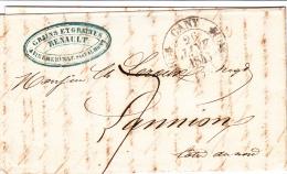74 SEINE INFERIEURE - CANY (Vinnemerville) - 1846 - Marcophilie (Lettres)