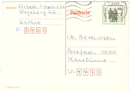 GERMANIA - GERMANY - Deutschland - ALLEMAGNE - BUNDESPOST - 1991 - 30 Weimar - Postkarte - Carte Postale - Post Card - I - BRD