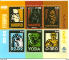 2017-ED. 5143 H.B. Tecnología Lenticular Sin Movimiento- CINE. STAR WARS. Darth Vader, Stormtrooper, Chewbacca, R2-D2,