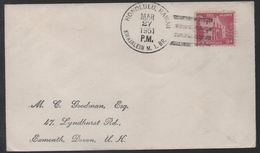 KWAJALEIN - HONOLULU - HAWAII - MARSHALL / 1951 OBLITERATION SUR LETTRE POUR GB (ref LE1231) - Hawaï