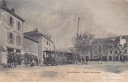 Annemasse - Place Nationale Avec Train - 1902     (A-39-150107) - Annemasse