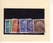 Deutsches Reich  Satz 467-73 Gestempelt  WZ Waffeln   (  N  6934)
