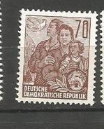N° 322 Série Courante Paix Et Famille   Timbre Allemagne De L-Est (1957) Oblitéré Sur Neuf**