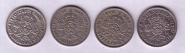 Lot N° 123- Lot De 4 Pièces 2 Shillings Georges VI - 1902-1971 : Monnaies Post-Victoriennes