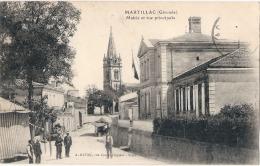 ----33 ----MARTILLAC  Mairie Et Rue Principale TTB - France