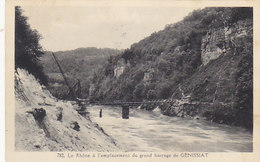 Génissiat - Le Rhône à L'emplaement Du Grand Barrage     (A-39-150107) - Génissiat