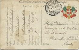 CARTOLINA POSTALE ITALIANA IN FRANCHIGIA POUR LA FRANCE 1916 - Sonstige