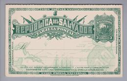 El Salvador Ganzsache 1892 3 Centavos Mit Antwortkarte Ungebraucht - Salvador