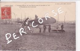 32   Auch  L'Aviateur Morin Sur Son Blériot à L'Aérodrome De Couloumé - Auch