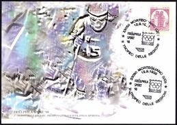 OLYMPIC CIRCLES - ITALIA MORTEGLIANO (UD) 1998 - FRIULPHILA SPORT '98 - TROFEO DELLE REGIONI - CARTOLINA UFFICIALE - Francobolli