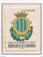 ANDORRA FRANCESA 2000 - ESCUDO DE ANDORRA LA VELLA - YVERT Nº 528**